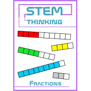 Fractions Math Clip Art for Centers, Task Cards, File Folders